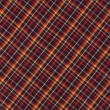 Red Black and Yellow Diagnal Plaid Fabric Background — Stock Photo