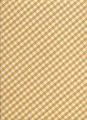 Weißer und brauner karierte tischdecke stoff hintergrund — Stockfoto