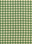 White and Green Checkered Tabletop Fabric Background — Stock Photo