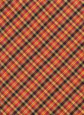 Tło włókienniczych plaid żółty, czerwony i czarny diagnal — Zdjęcie stockowe