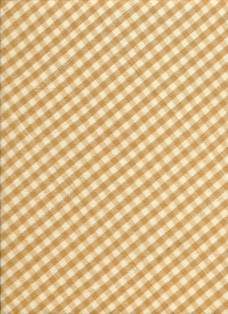 Fundo de tecido de toalha de mesa quadriculada branca e marrom