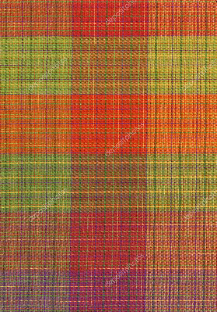 Plaid Background Green Green Red And Orange Plaid