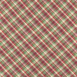 Green Red And White Plaid Fabric Background — Stock Photo