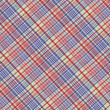 Red Green Blue and White Plaid Fabric Background - Stock Photo