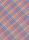 Czerwony zielony niebieski i biały pled tkanina tło — Zdjęcie stockowe