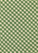 Green and White Gingham Textile Fabric Background — Stock Photo