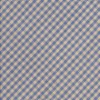 Blue and Gray Checkered diagonal Tablecloth Fabric Background — Stock Photo