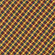 Yellow Red and Blue Diagonal Plaid fabric Background — Stock Photo