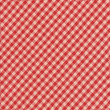 Red and Grey Checkered diagonal Tablecloth Textile Background — Stock Photo