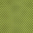 White Polka Dots On Green Fabric Background — 图库照片