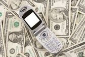 Cellphone On American Money — Stock Photo
