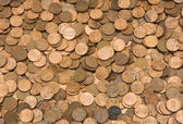 Background of American pennies — Stock Photo