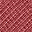 Red And White Gingham Plaid Fabric Background — Stock Photo