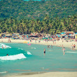 tropical beach of palolem — Stock Photo