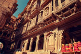 Ornate facade of Haveli — Stock Photo