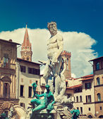 Statue of Neptune in Florence — Stockfoto