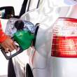 Stock Photo: Gasoline refill