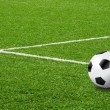 Soccer football field stadium grass line — Stock Photo