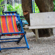 Lawn chairs in the garden — Stock Photo