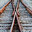 Abstract view of railroad — Stock Photo