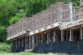 Fragment of a new residential construction home framing — Stockfoto