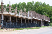 Fragment of a new residential construction home framing — Stock Photo