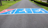 Pedestrian road marking — Stock Photo
