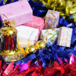 Gift box and christmas tree for christmas day and happy new year — Stock Photo #37770545