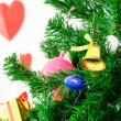 Gift box and christmas tree for christmas day and happy new year — Stock Photo #37770601