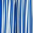 Blue and white curtain — 图库照片