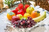 Artificial fruits — Stock Photo