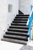 Black stair in greek style — 图库照片