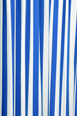 Blue and white strips curtain — Stock Photo