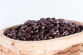Macro close up coffee beans — Foto Stock