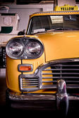 Old yellow taxi — Stock Photo