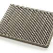 Foto Stock: Dirty car air filter