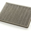 Stock Photo: Dirty car air filter