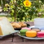 Breakfast in the garden — Stock Photo #34356903