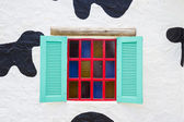 Colorful vintage window — Zdjęcie stockowe