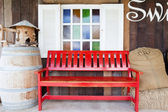 Red bench — Stockfoto
