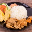 Stock Photo: Teriyaki pork with rice