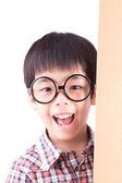 Leuke aziatische jongen bril (retro filter) — Stockfoto
