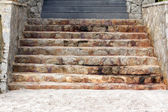 Stone Stairs down to the beach — Stok fotoğraf