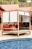 Summerhouse in tropical resort hotel — Foto de Stock