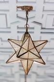 Star shape lantern — Stock Photo
