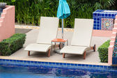 Pool bed beside the pool — Stock Photo