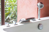 Jacuzzi faucet at terrace — Stock Photo
