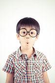 儿童用惊讶的表达式 — 图库照片