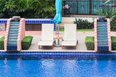 Pool bed beside the pool — Foto Stock