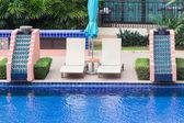Pool bed beside the pool — 图库照片